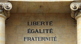 motto of the French revolution source:istockphoto permission:licensed