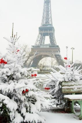 Snowy Paris Christmas