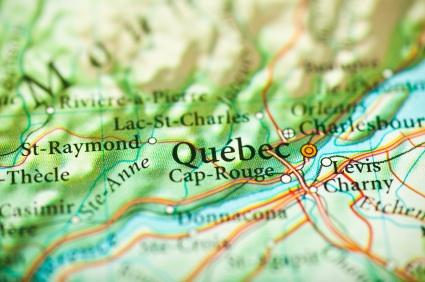 Map of Quebec