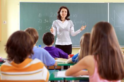 Teacher and class