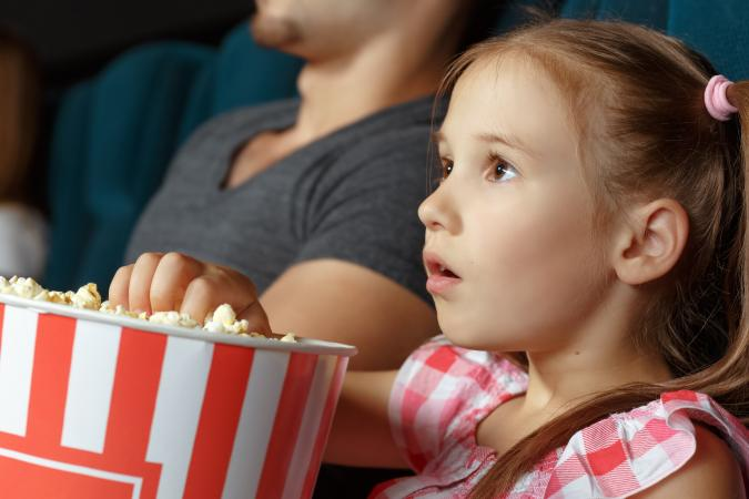 Girl at the cinema