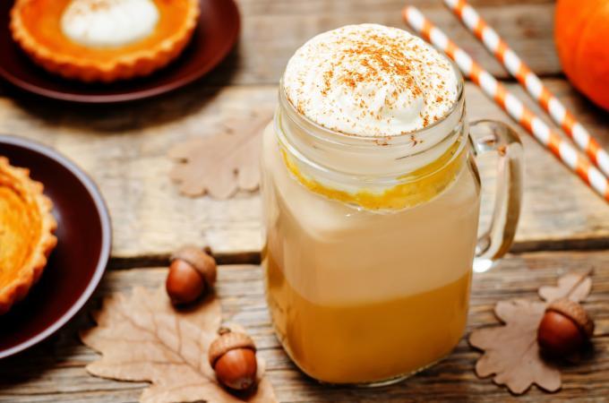 Pumpkin pie & latte