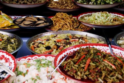 Close-up of unusual delicacies