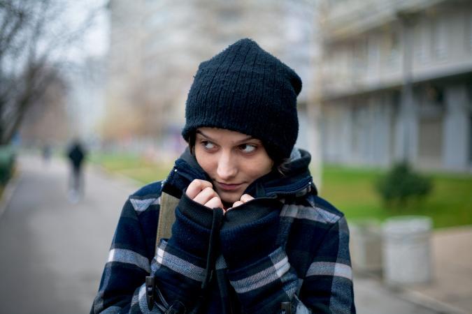 Girl spying