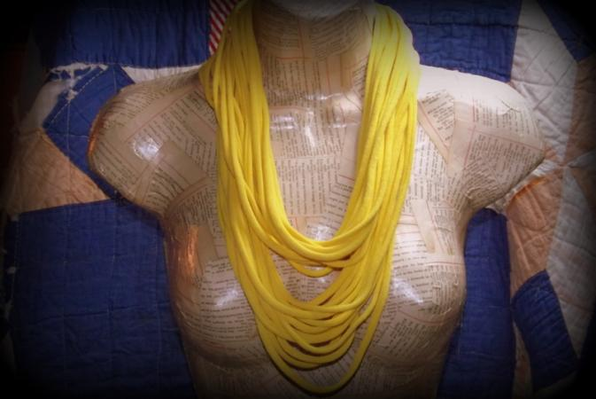 Upcycled T-Shirt Scarf-Necklace