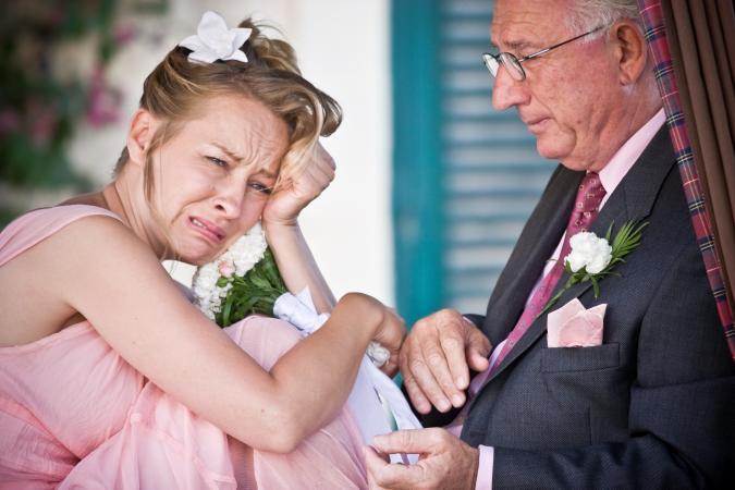 upset bride