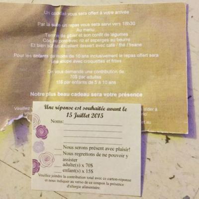 French wedding invitation