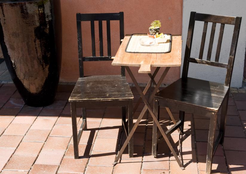 Rugged Outdoor Wood Dining Table Pictures Slideshow