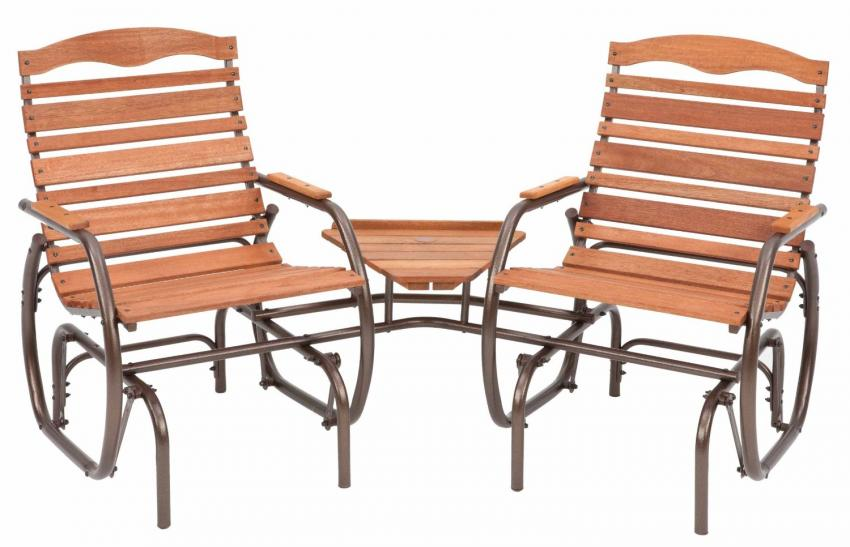 Exceptional Two Seater Patio Set Part - 8: 2-seater Glider With Table