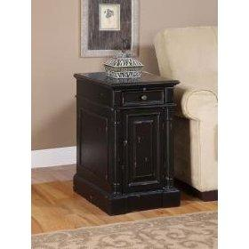 black chairside end table