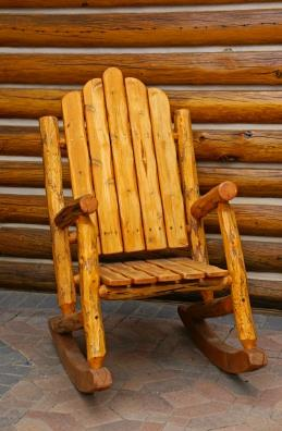 log chair plans free