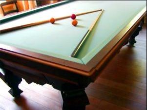 Pool table in dining room