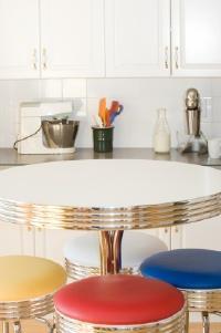 A colorful retro kitchen table