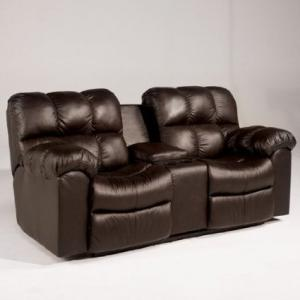 Famous Collection Chocolate Double Reclining Loveseat