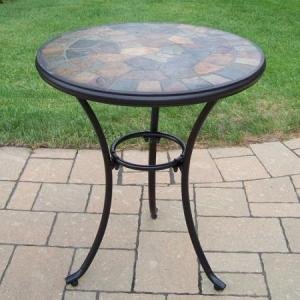Oakland Living Stone Art 24 in. Patio Bistro Table