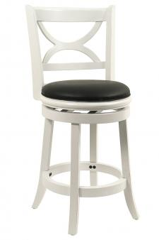 Boraam Florence Counter Height Swivel Stool, 24-Inch, Distressed White