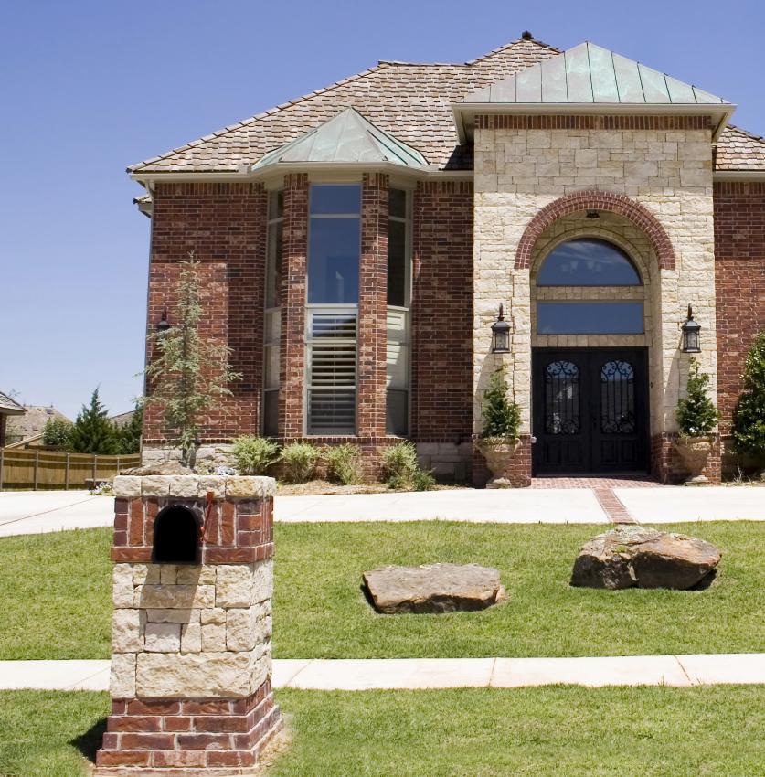 Stone Luxury Home Designs: Mailbox Landscape Design [Slideshow]