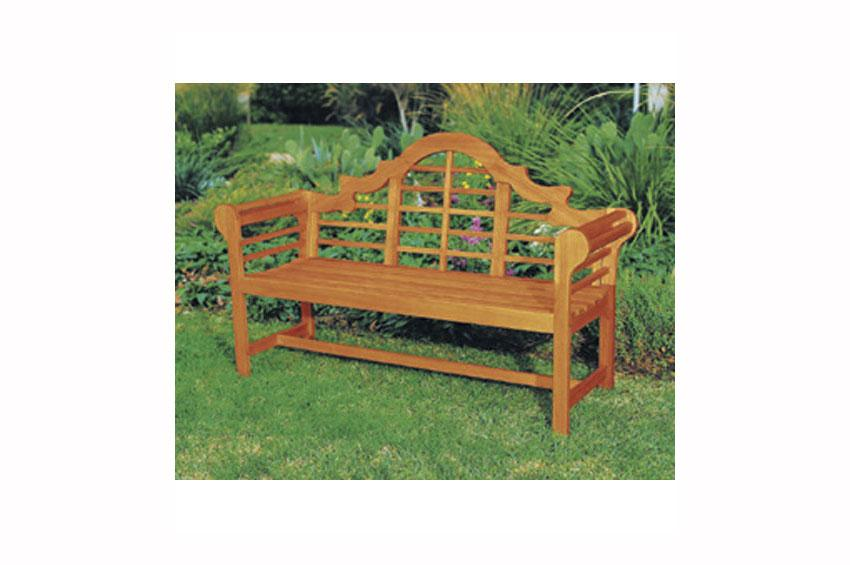 Exceptional Highback Wood Bench From Bellacor