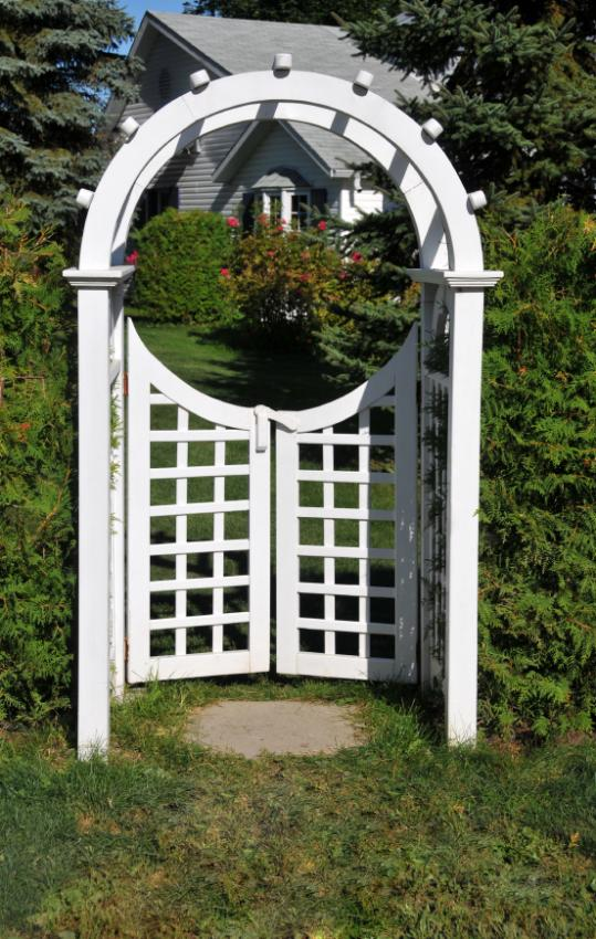 garden arbor with gate garden gate with arbor traditional