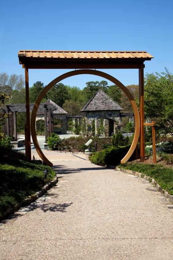 zen arbor with circular entry