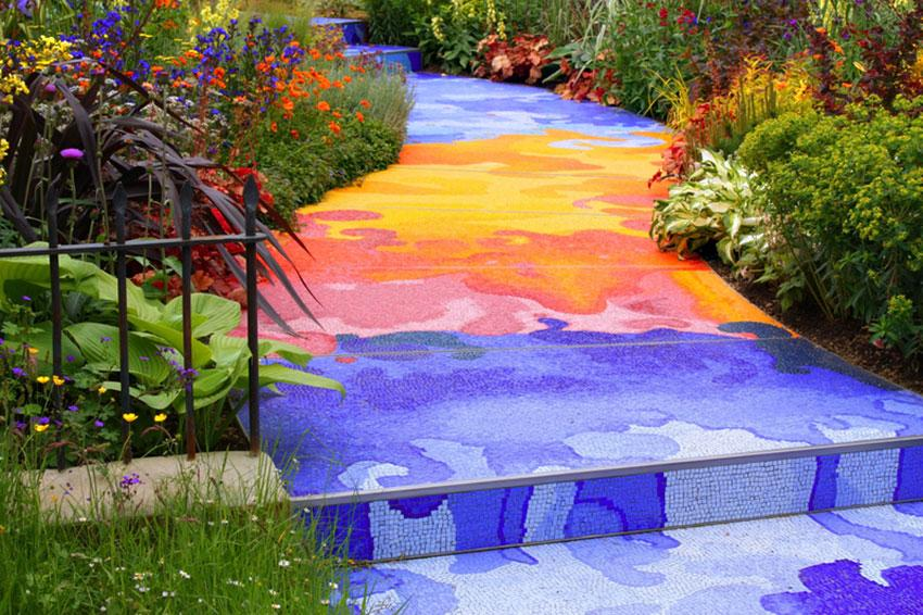 Unusual landscape design ideas slideshow for Mosaic landscape design