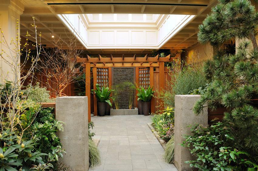 elegant courtyard garden