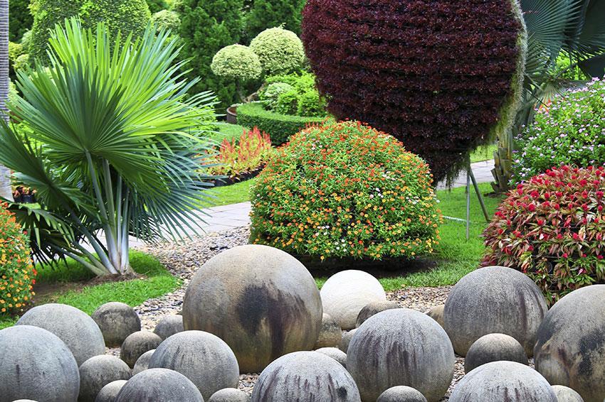round stone sculptures