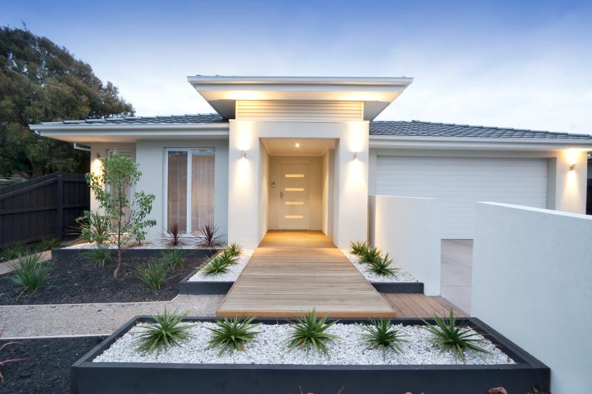 contemporary home and landscape. Modern Landscape Design Examples   LoveToKnow