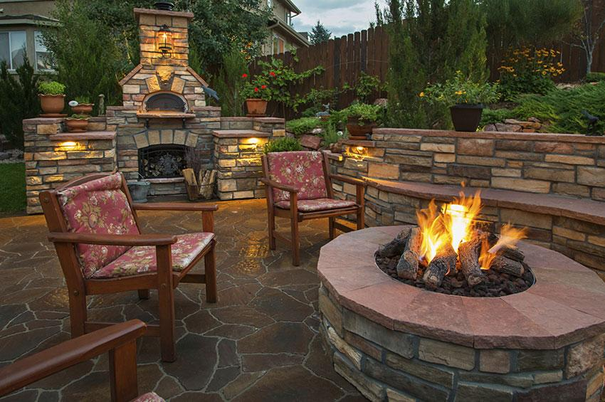 178700 850x565 outdoor fire pit on patio - Barbecue and Fire Pit Safety for the Summer