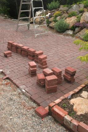 Creating a beautiful patio.