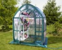 Popup greenhouse is an inexpensive option.