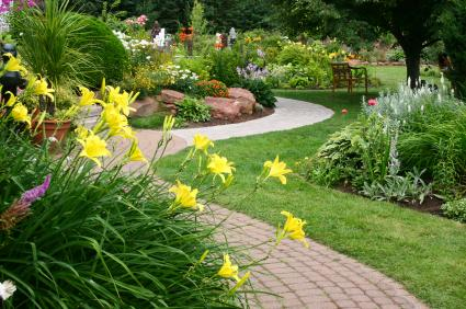 pathway through garden source planning a perennial garden layout must take several factors into consideration