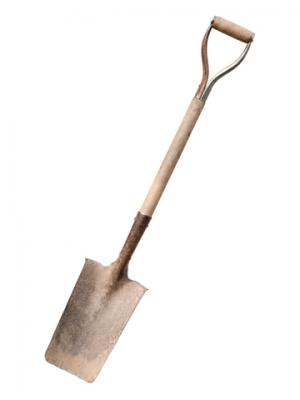 Square spade for edging and cutting sod; Copyright Sergio Schnitzler at Dreamstime.com 