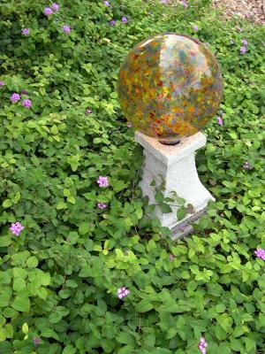 Gazing Orb In Garden