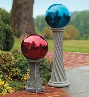 Using Gazing Balls as Garden Decorations