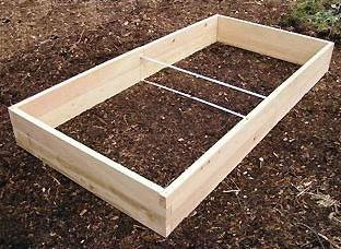 Cedar raised bed kit from Eartheasy