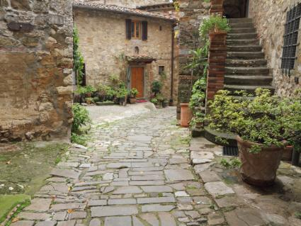 Superb Flagstone Tuscan Patio