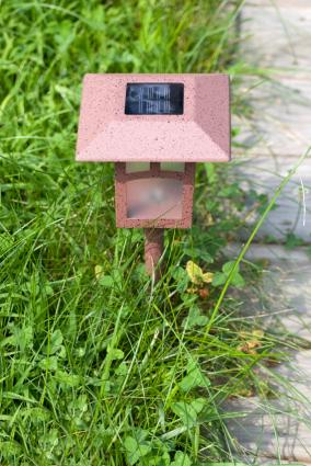 solar-powered path light