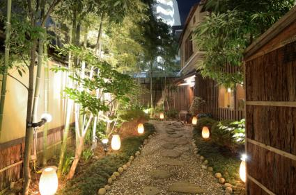 path lighting for exotic landscape