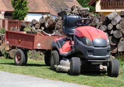 red garden tractor