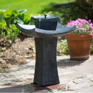 Modern Zen solar fountain