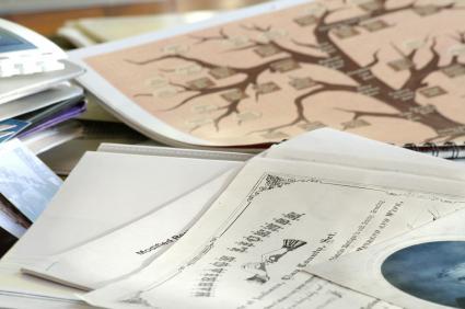 Family tree and family records.