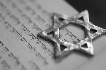 jewish book and star of david