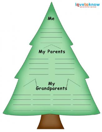 fir tree template