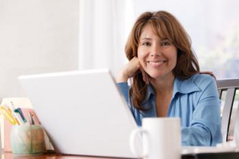 woman researching