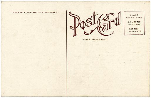 Back of a postcard