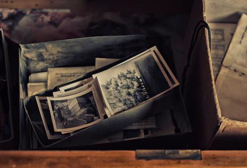Photos in a drawer