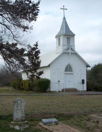 Church and headstones