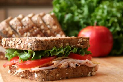 A sandwich on gluten-free bread.