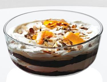 Christmas Pear and Chocolate Trifle